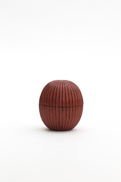 Jihei Murase, 'Negoro Stripe Curved Tea Caddy', 2019