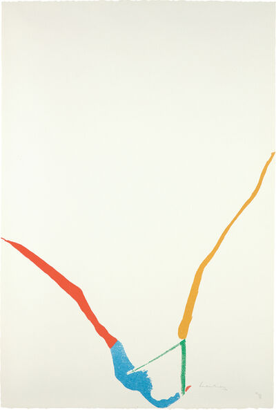 Helen Frankenthaler, 'What Red Lines Can Do: one plate', 1970