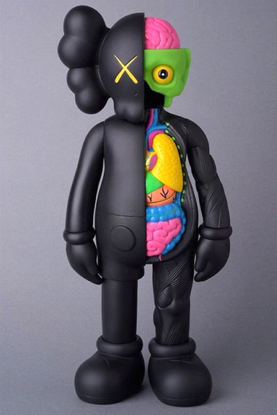 KAWS, '4 foot dissected companion (black) ', 2009