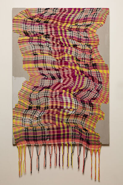 Crystal Gregory, 'Portrait of Plaid (Red)', 2020