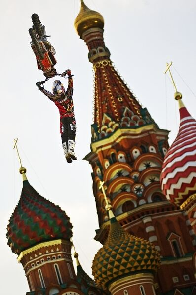 Joerg Mitter, 'Levi Sherwood of New Zealand Performs in Front of the St. Basil's Cathedral in Moscow's Red Square, Russia', June 24-2010