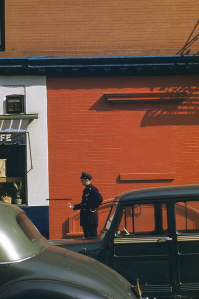 Werner Bischof, 'Policeman and nightstick, New York, USA', 1953