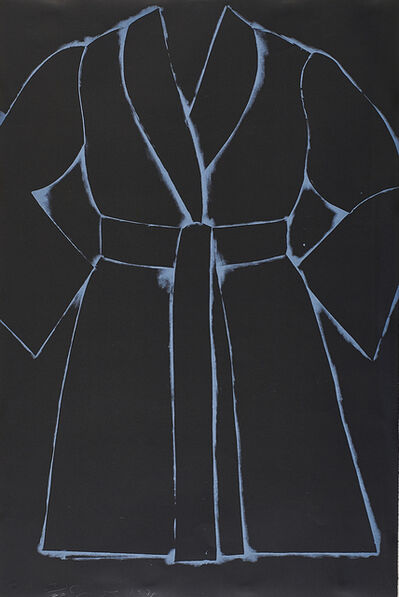 Jim Dine, 'Black and White Bathrobe', 1975