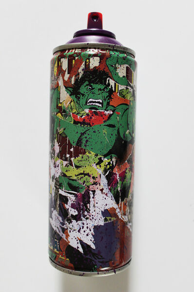 Mr. Brainwash, 'Hulk Spraycan Purple', 2019