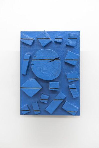 Kishio Suga 菅木志雄, '木片の積線 - 独立空', 2000