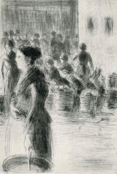 Camille Pissarro, 'La Bonne Faisant son Marché', 1888