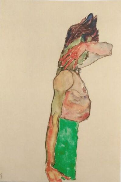Egon Schiele, 'Mädchen mit grünem Rock', 1990