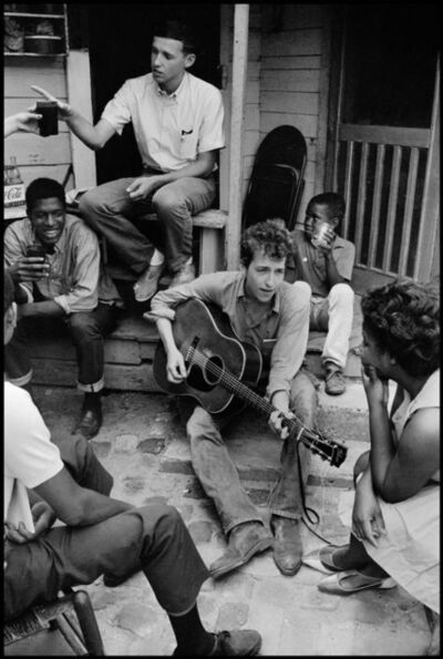 Danny Lyon, 'Bob Dylan Behind the SNCC Office, Greenwood, Mississippi', 1963