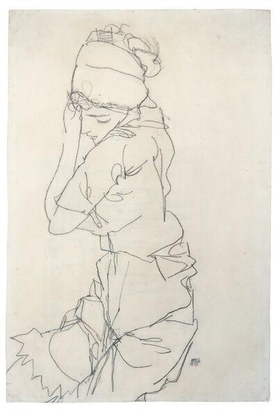 Egon Schiele, 'Pondering Woman', 1913