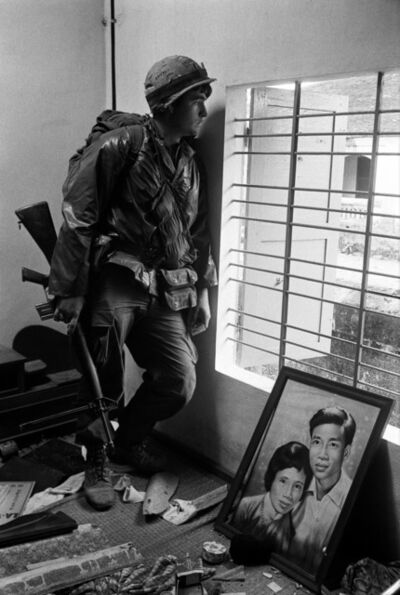 Don McCullin, 'Battle for the City of Hué, South Vietnam, US Marine Inside Civilian House', 1968