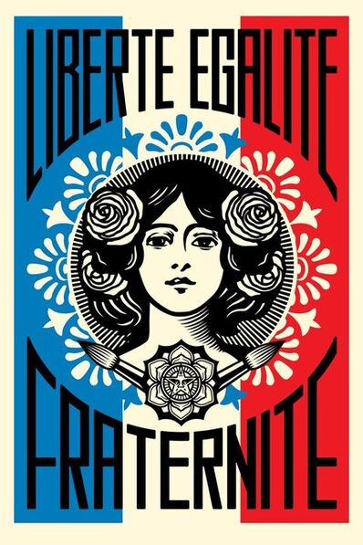 Shepard Fairey, 'Liberté Égalité Fraternité', 2019