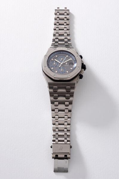 Audemars Piguet, 'A fine and attractive titanium chronograph wristwatch with grey dial, date, bracelet, guarantee and box', Circa 2000