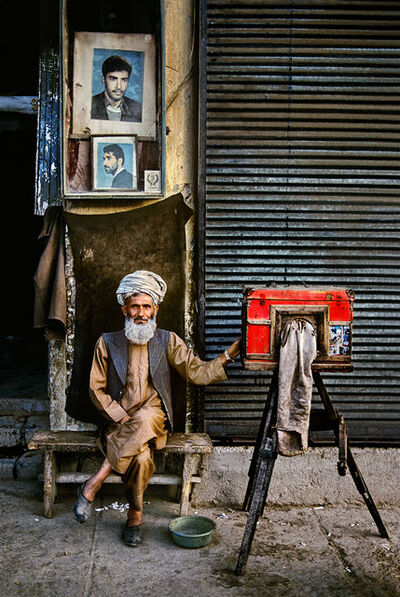 Steve McCurry, 'Portrait Photographer, Kabul, Afghanistan', 1992