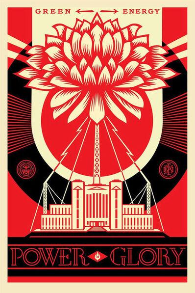 Shepard Fairey, 'Green power poster', 2017