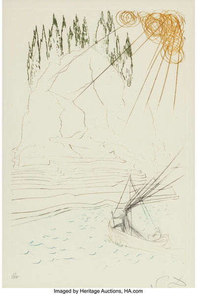 Salvador Dalí, 'Tristan et Iseult (five works)', 1970