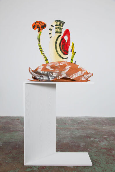 Betty Woodman, 'Amphora and Garden', 2012-2013