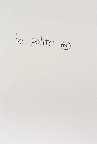 Gordon Bennett, 'Notes to Basquiat: Be Polite', 1998
