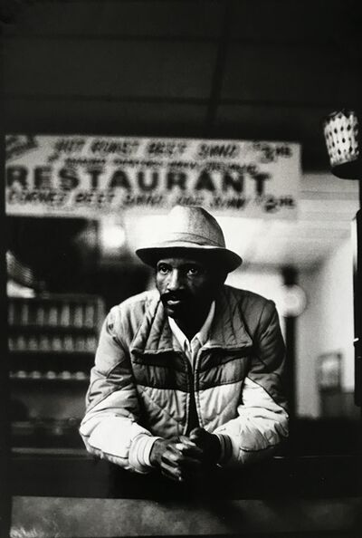 Ming Smith, 'Leaning Man with Jacket, (August Wilson Series)', 1992