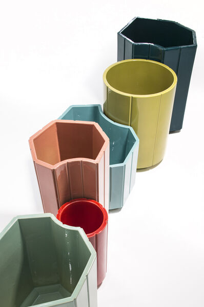 India Mahdavi, 'VASES series 3 (S3) MONOCHROME, SET OF 6 in limited edition of 40 - celadon, red, rose, turquoise, chartreuse, canard blue.', 2013