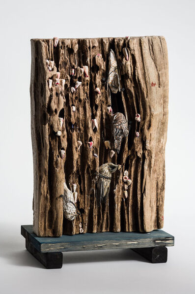 Elizabeth Jordan, 'Bird on wood sculpture: 'The Argonne Forest'', 2019