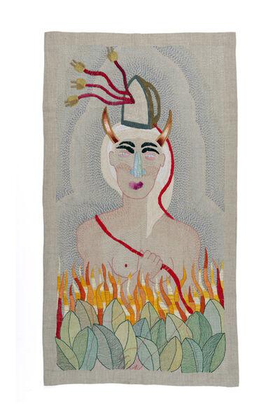 Paloma Castillo, 'Sin título (mujer con plancha en la cabeza)', 2018