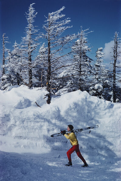 Slim Aarons, 'Skier In Vermont', 1962