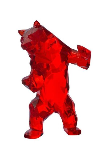 Richard Orlinski, 'Wild Bear Crystal Clear (Red, Blue)', 2018