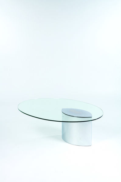 Cini Boeri, 'Coffee table in glass and chromed metal', vers 1972