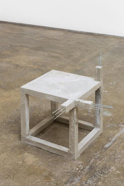Felipe Arturo, 'Unfinished concrete chair #4', 2015