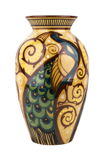 Rodriguez, 'Vase with peacocks and vegetable girals'