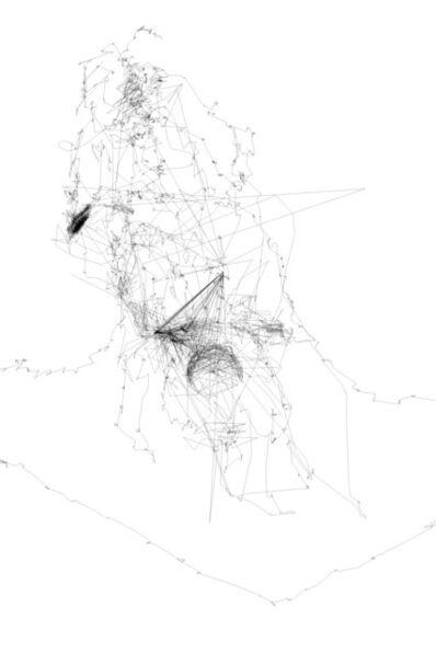 Matthew Attard, '7 eye drawings describing a figure', 2018