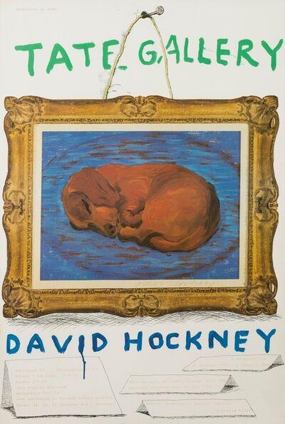 David Hockney, 'A poster for David Hockney: A Retrospective', 1987