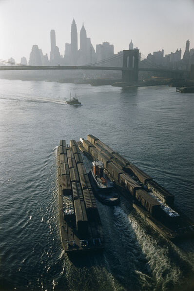 Werner Bischof, 'Tugboat and barges, New York, USA', 1953
