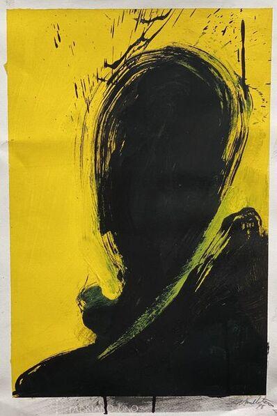 Richard Hambleton, 'Shadow Head (Lemon Yellow)', 1998