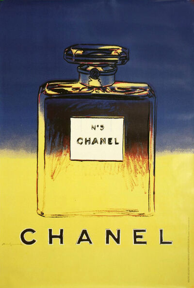Andy Warhol, 'Chanel No. 5 (Blue and Yellow) Advertising Poster', 1997