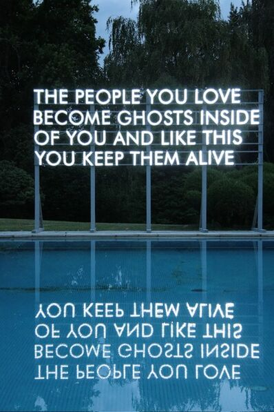 Robert Montgomery, 'People You Love', 2012