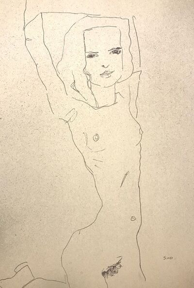 Egon Schiele, 'Nude Girl with Arms Raised', 2007