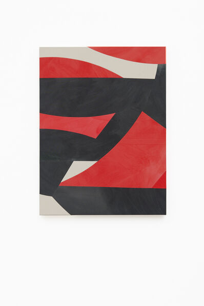 Sarah Crowner, 'Sliced Red and Black (Mexico)', 2019