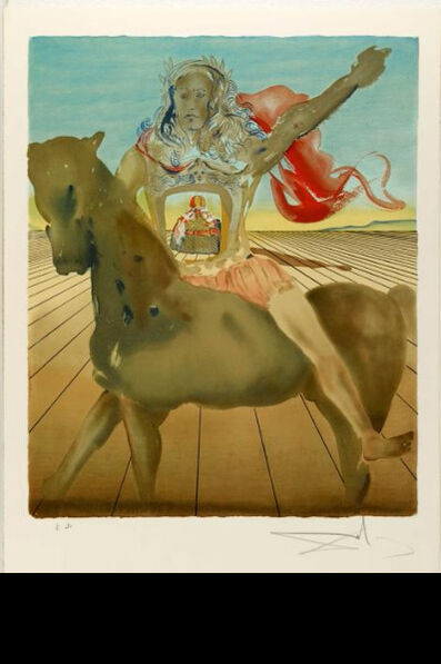Salvador Dalí, 'Surrealist Horseman', 1980