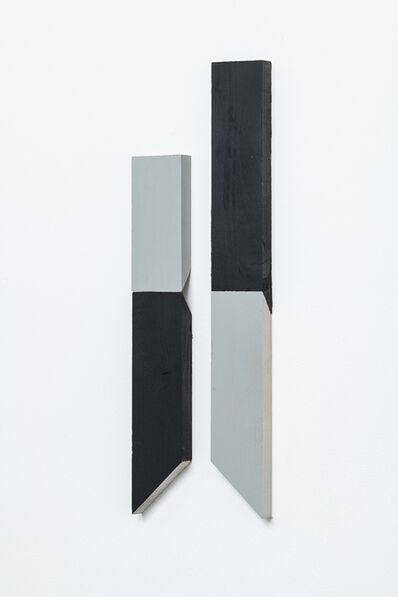 Luis Romero, 'Matches (Negro/Gris)- Diptych', 2019