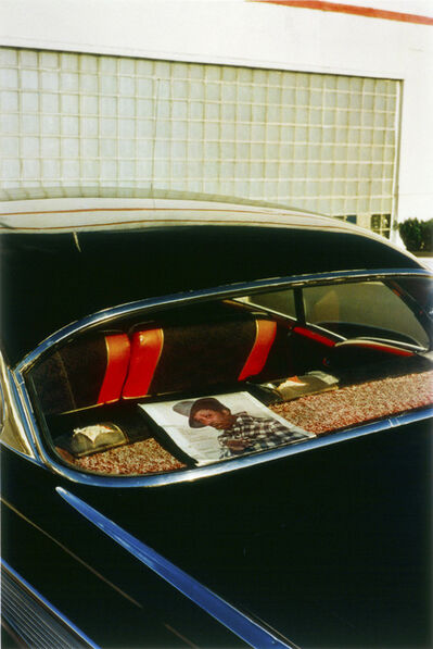 William Eggleston, 'Untitled (Record Album in Rear Window) Memphis, TN', 1971-1974