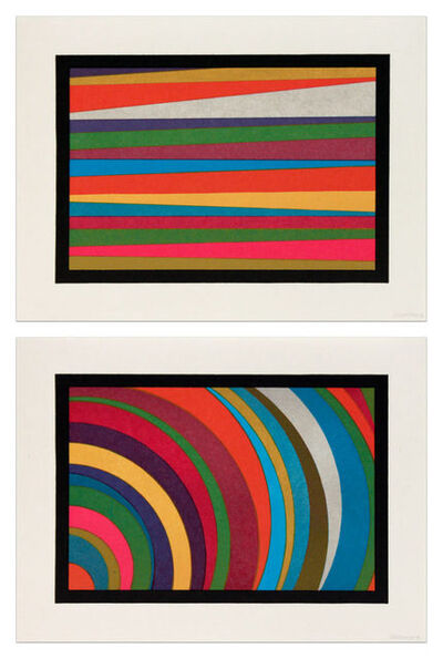 Sol LeWitt, 'Irregular Arcs and Bands from Lower Left Side', 1997