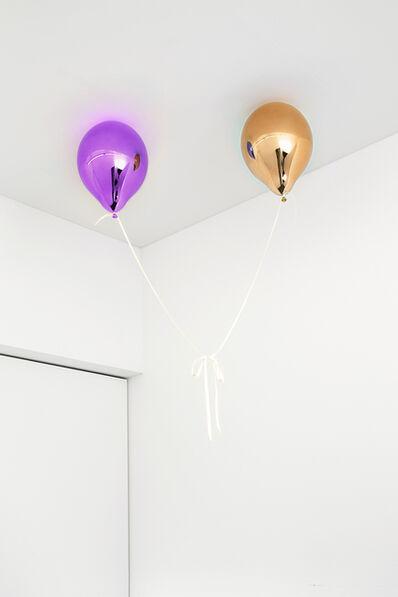 Jeppe Hein, 'Wishes for Two (medium orange and medium purple)', 2017
