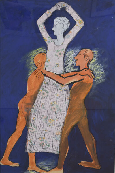 Joan Brown, 'David with Statue of Mary Julia, #2', 1976