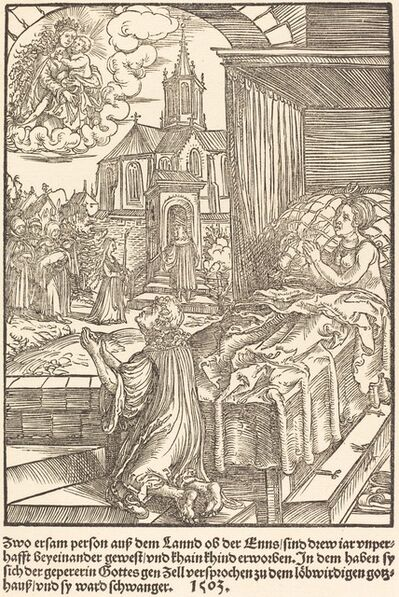 Master of the Miracles of Mariazell, 'Zwo ersam person auf dem Lannd ...', 1503