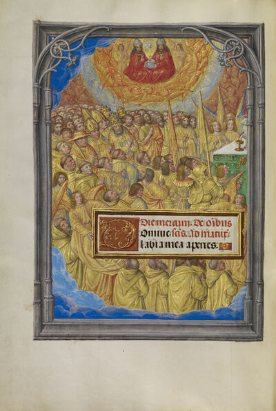 Master of James IV of Scotland, 'Martyrs and Saints Worshipping the Lamb of God', 1510-1520