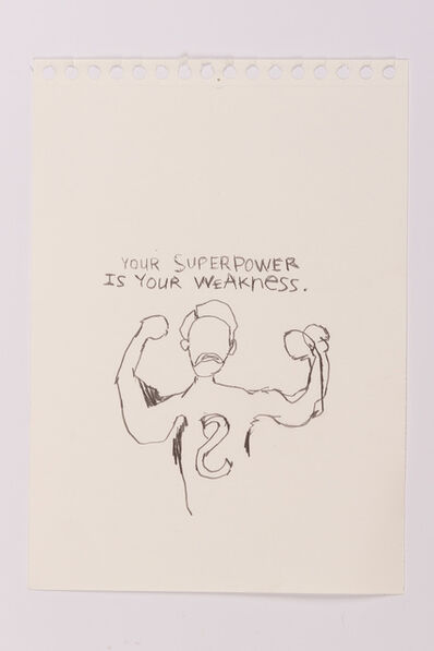 Scoli Acosta, 'Your Superpower is Your Weakness', 2017