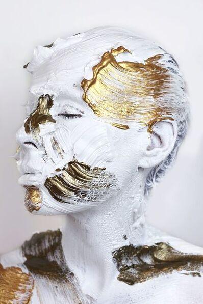Sophie Derrick, 'Monochrome Metallics - White, Bronze & Gold #3', 2018