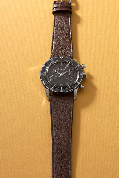 Breguet, 'A rare and attractive stainless steel fly-back chronograph wristwatch with rotatable bezel', 1971