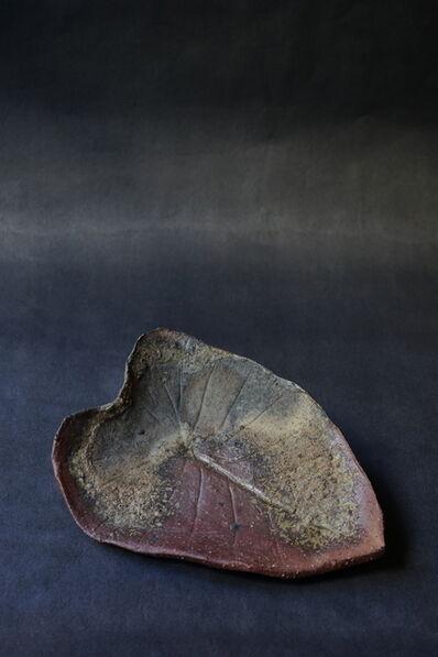 Shiro Tsujimura, 'Leaf Plate (Bizen-Style)'